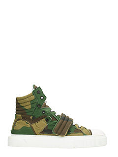 Gienchi-sneakers Hypnos camoscio camuflage