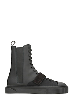 Gienchi-sneakers Thanatos in pelle nera