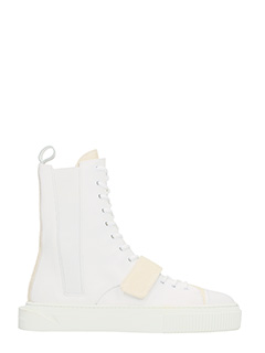 Gienchi-sneakers Thenatos in pelle bianca