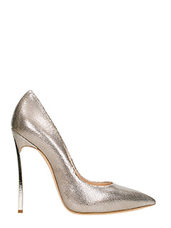 Casadei-Decollet� Blade in pelle metal bronzo