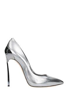 Casadei-Decollet� Blade in pelle metal argento