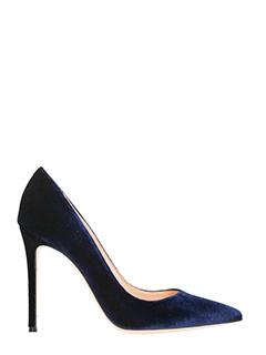 Lerre-Decollet� in velluto blue