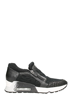 Ash-Sneakers Live in tessuto e pelle nera