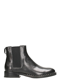 Ash-Wino Ankle Boots in black leather