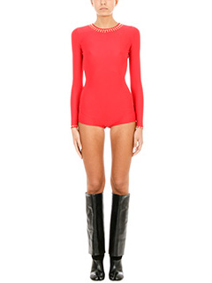 Maison Margiela-Body in lycra rossa