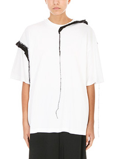 Maison Margiela-Embroidered-trim cotton and mohair T-shirt