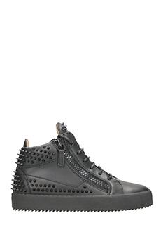 Giuseppe Zanotti-Sneakers Kriss Stud in pelle nera