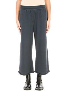 T by Alexander Wang-Pantaloni in felpa di cotone blue
