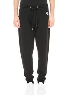 Kenzo-pantalone Tiger jogpant in cotone nero