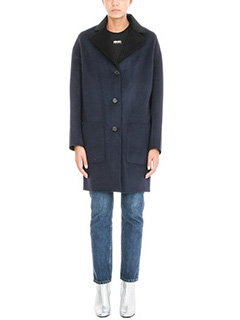Kenzo-Cappotto in lana blu