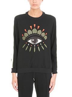 Kenzo-Eye-embroidered crepe sweatshirt