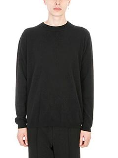 Laneus-Maglia in lana nera