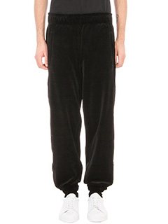 Laneus-Pantalone in velluto nero