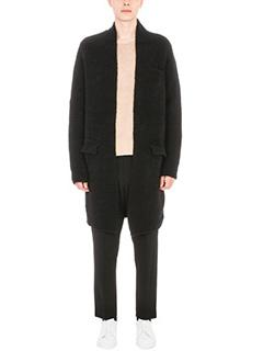 Laneus-Cappotto in lana boucl� nero