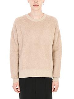 Laneus-Maglia in lana beige