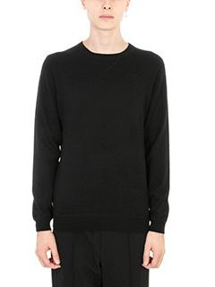 Laneus-Maglia in cashmere nera