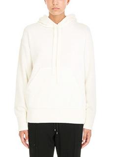 Laneus-Hooded Ruffled Sweater