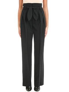 Iro-Pantaloni in lana nera