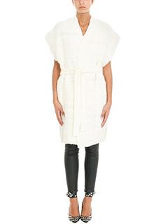 Iro-Gilet Namatre in tweed di cotone bianco