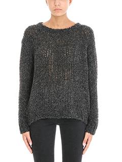Iro-Crescent open knit sweater