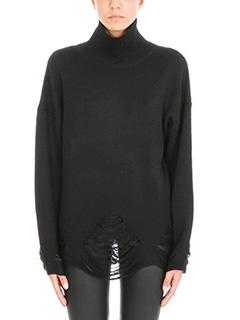 Iro-Maglia Parola in lana nera