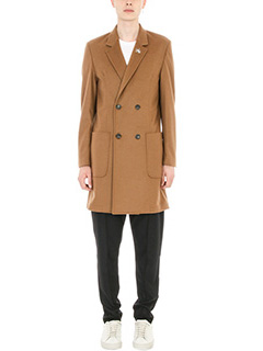 Low Brand-Cappotto in lana cuoio