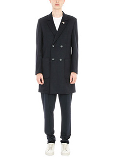 Low Brand-Cappotto in lana blue