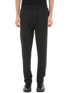 Low Brand-pantalone T4.13 Dias twil in tessuto nero