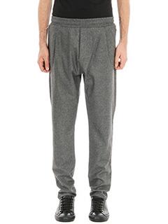 Low Brand-pantalone T4.26 Foster in lana grigia