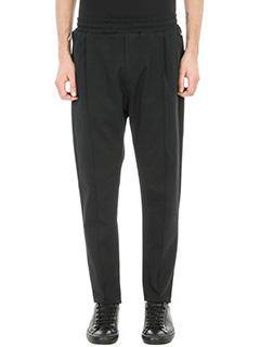 Low Brand-pantalone T4.26 lux in cotone nero