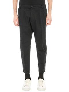 Low Brand-pantalone T7.0 lux in cotone nero