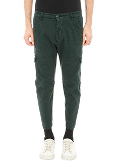 Low Brand-pantalone T7.1 Dexter in cotone verde