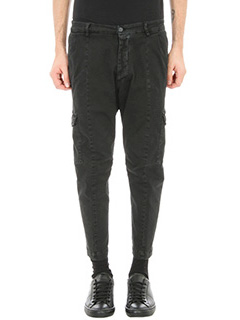 Low Brand-pantalone T7.1 Dexter in cotone nero