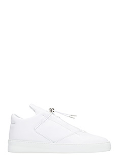 Filling Pieces-Sneakers Mountain Cut in pelle bianca