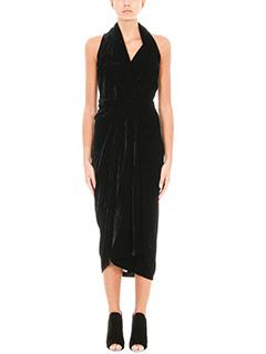 Rick Owens-Abito Limo Dress in velluto nero