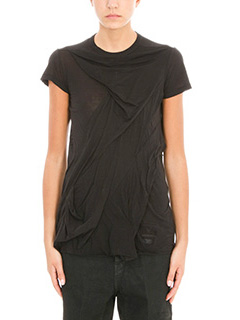 Rick Owens DRKSHDW-T-Shirt in cotone nero
