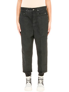 Rick Owens DRKSHDW-Jeans Cropped Astaire in cotone nero