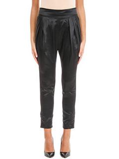 Givenchy-Pantaloni in seta nera
