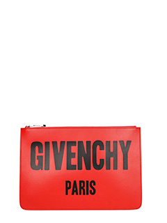 Givenchy-Pochette Logo Big Antigona Medium in pelle rossa