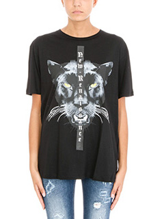 Marcelo Burlon-Mank black cotton t-shirt