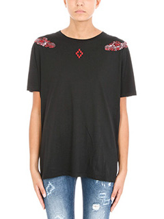Marcelo Burlon-Pachu black cotton t-shirt