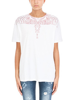 Marcelo Burlon-Mawida black cotton t-shirt