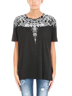 Marcelo Burlon-T-shirt Meun in cotone nero