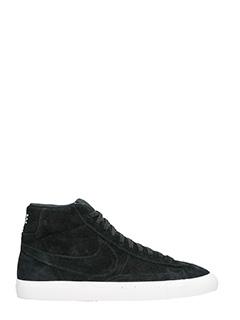 Nike-Sneakers Blazer Mid in camoscio nero