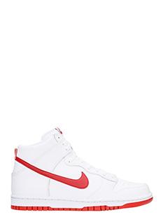 Nike-Nike Dunk Hi 46 in pelle bianca