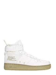 Nike-Sneakers SF AF1 in pelle bianca