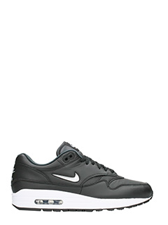 Nike-Air max 1 premium in pelle nera