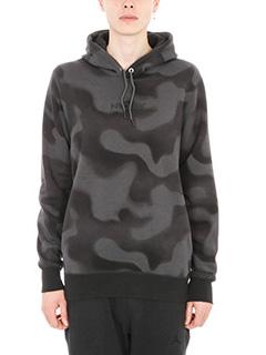 Nike-Felpa Wings camouflage in cotone grigio e nero