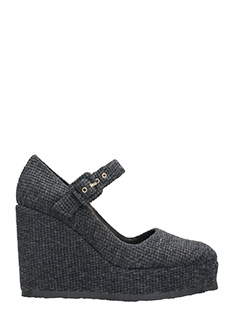 Castaner-Mary Jane Quinn grey wool wedge