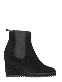 Castaner-Quifui black suede wedge ankle boots